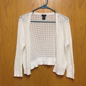 Ann Taylor white cropped sweater large